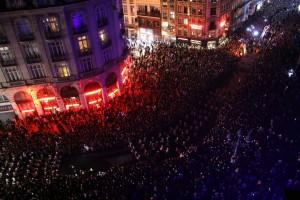 Foule dans les rues de Lille 3000