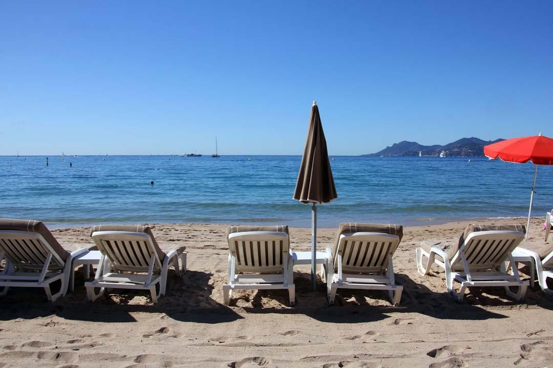 plage privée sur la croisette à Cannes