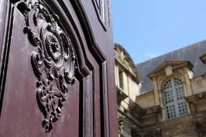 Porte entrée Hôtel Lamoignon Paris