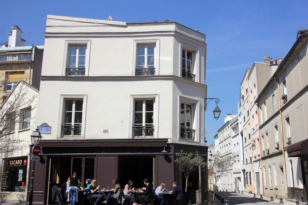 Immeuble penché sur la Butte aux Cailles à Paris