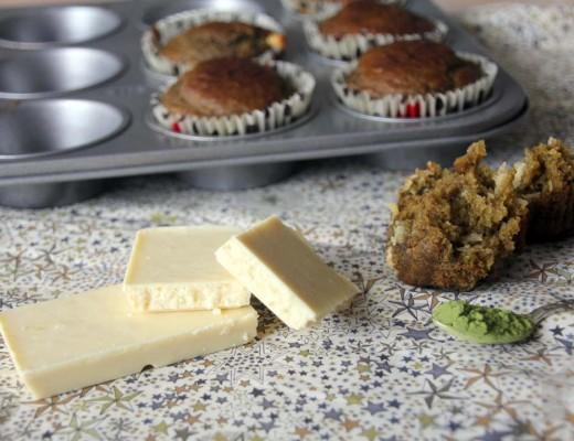 Recette muffins thé matcha chocolat blanc