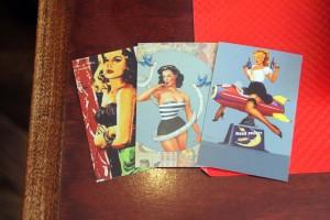 cartes postales pin up vintage