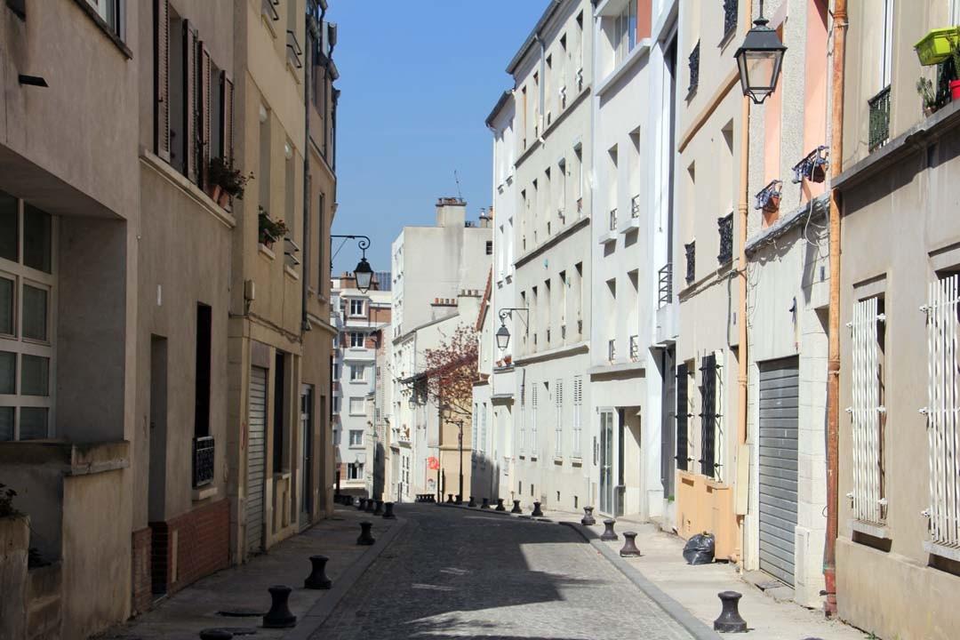 Rue piétonne Butte aux Cailles à Paris