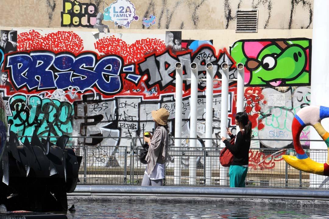 Streetart graffitis les Halles Paris