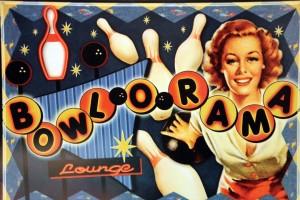Affiche vintage bowling