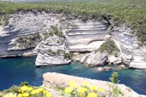Falaise calcaire calanque Bonifacio Corse