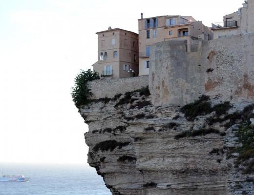 Falaise calcaire promontoire Bonifacio Corse