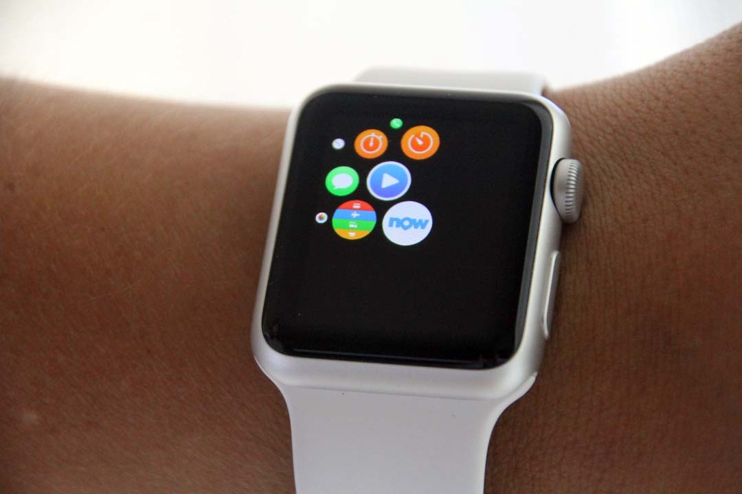 Apple Watch appli Booking now