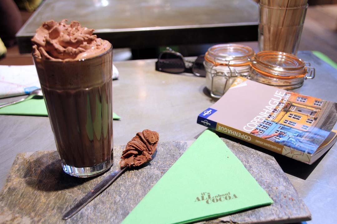 Chocolat chaud praliné