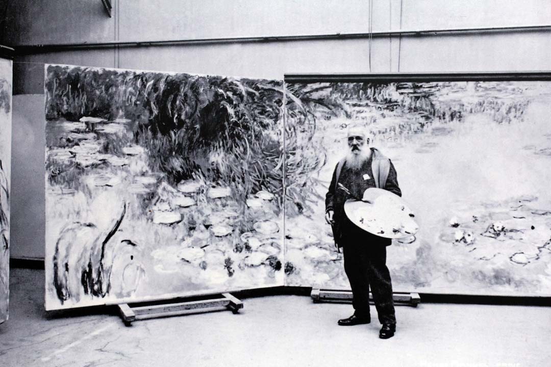 Claude Monet dans son atelier