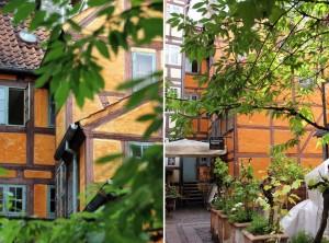 Cour d'un restaurant à Copenhague