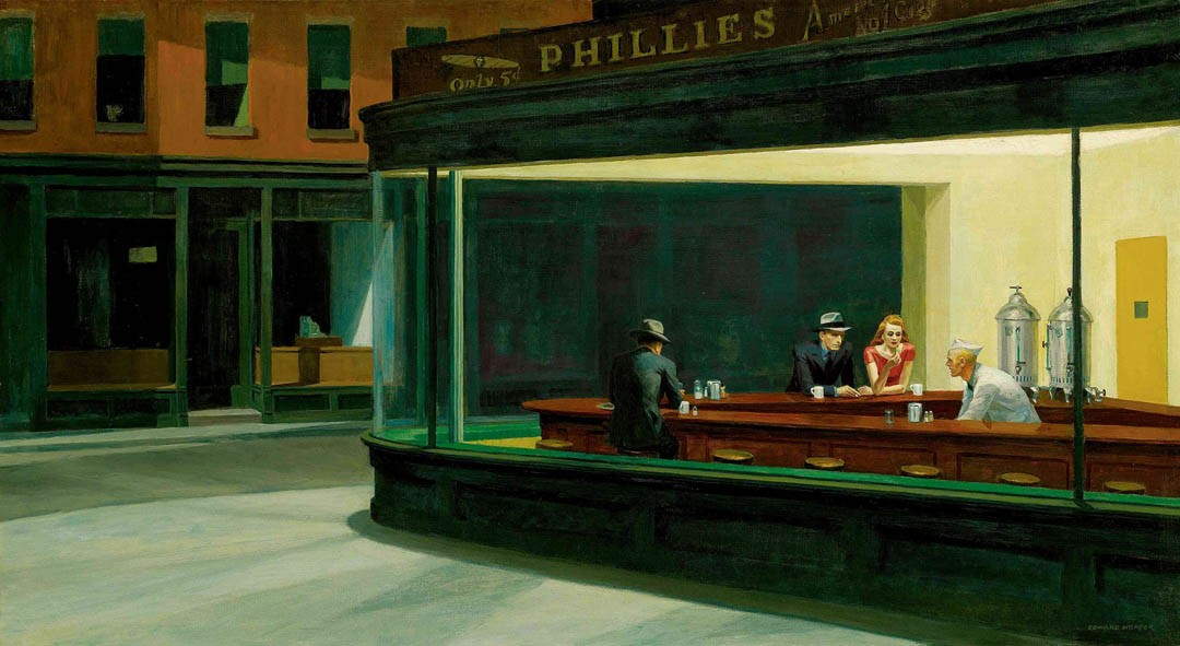 Tableau Edward Hopper Nighthawks