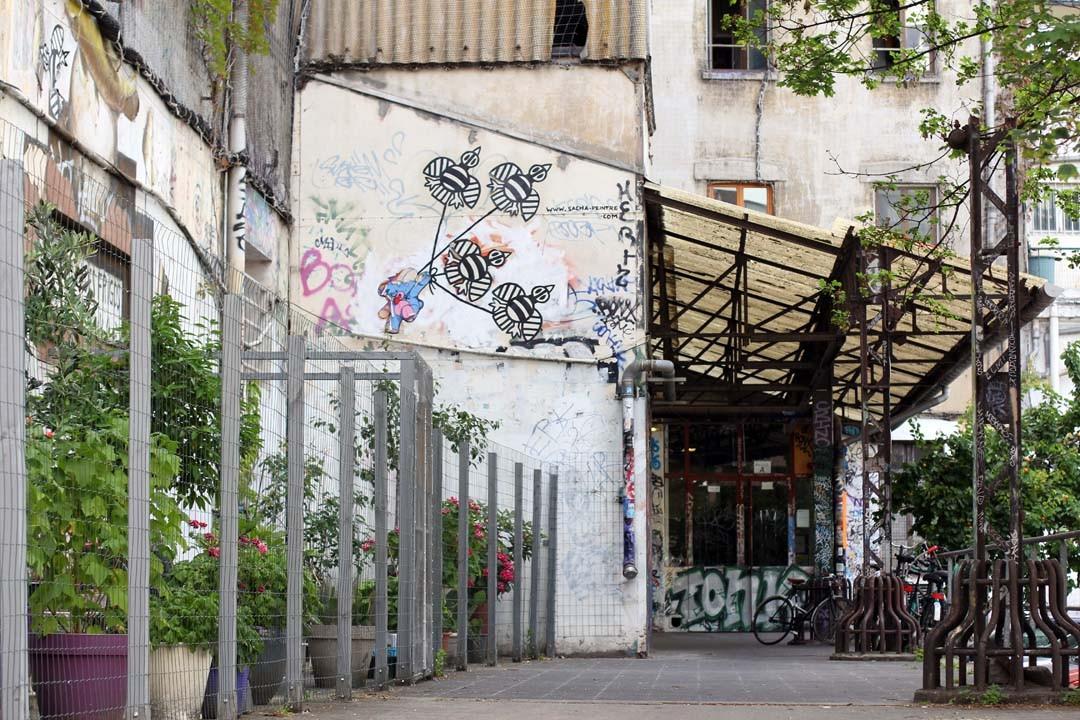 Entrée Bâtiment Frigos à Paris Bercy