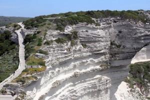 Falaise calcaire chemin des douaniers Bonifacio Corse