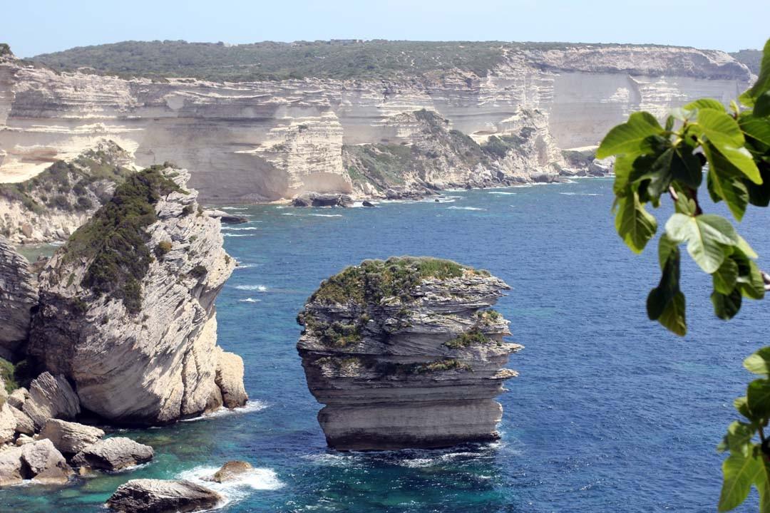 Falaise calcaire vue Bonifacio Corse