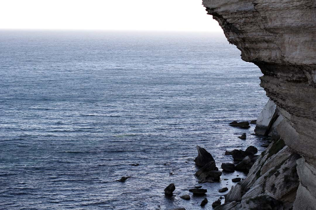 Falaise calcaire mer mediterranee Bonifacio