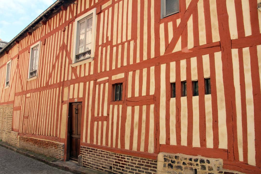 Maison à colombage Normandie Honfleur