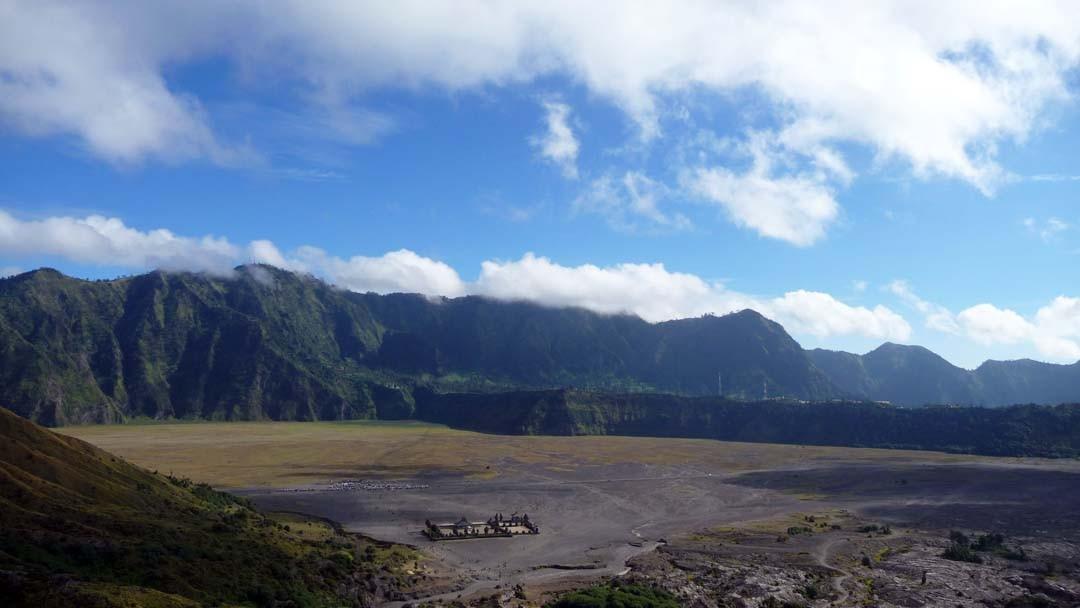 Vue depuis le Mont Bromo à Java en Indonésie