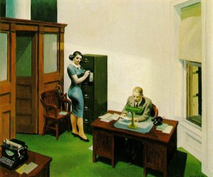 Edward Hopper - Office at night