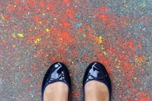 Peinture sur le sol