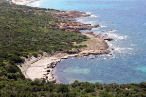 Plage turquoise au Cap de Roccapina en Corse