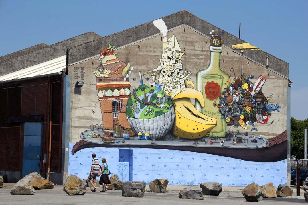 Streetart Quai des Antilles Nantes