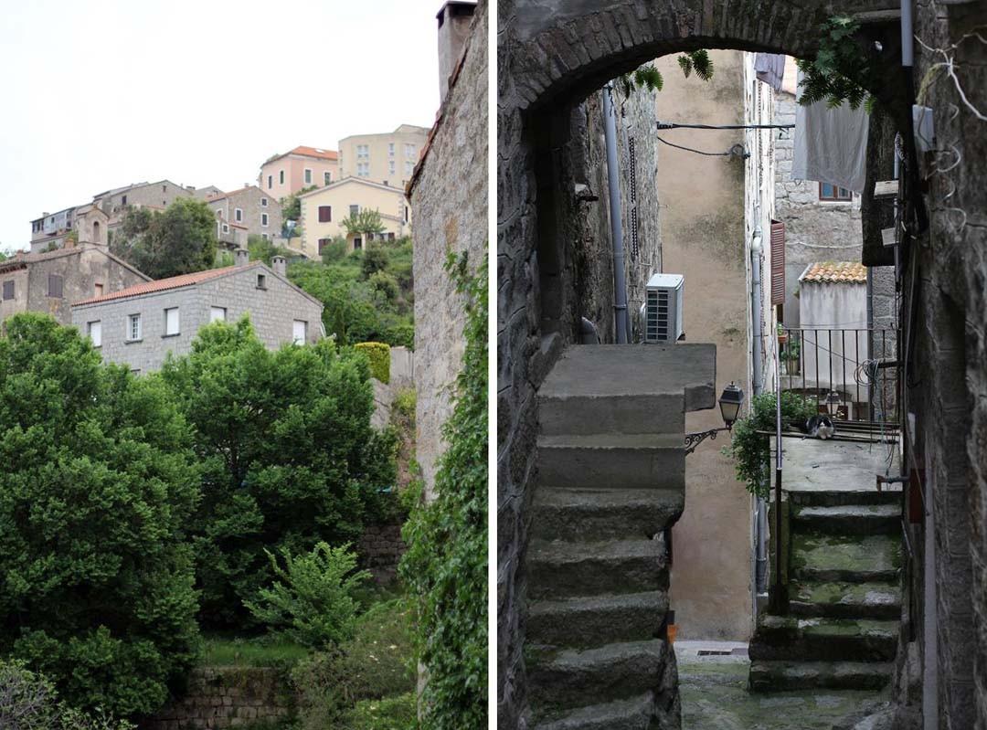 Ruelles dans la ville de Sartène en Corse du sud