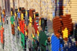Tableau boutique Lego à Copenhague