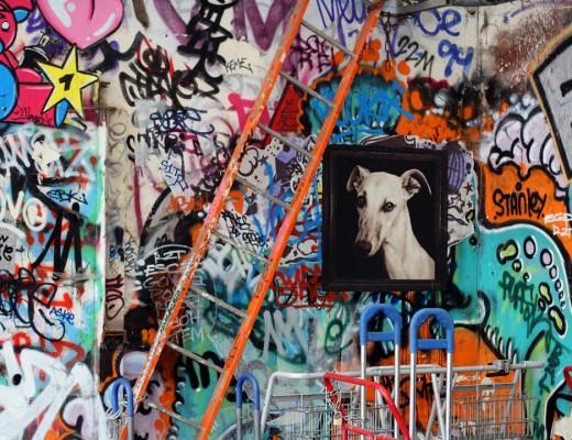 Joli mur tagué Frigos à Paris