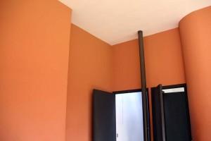 Murs orange La Villa Savoye Le Corbusier à Poissy