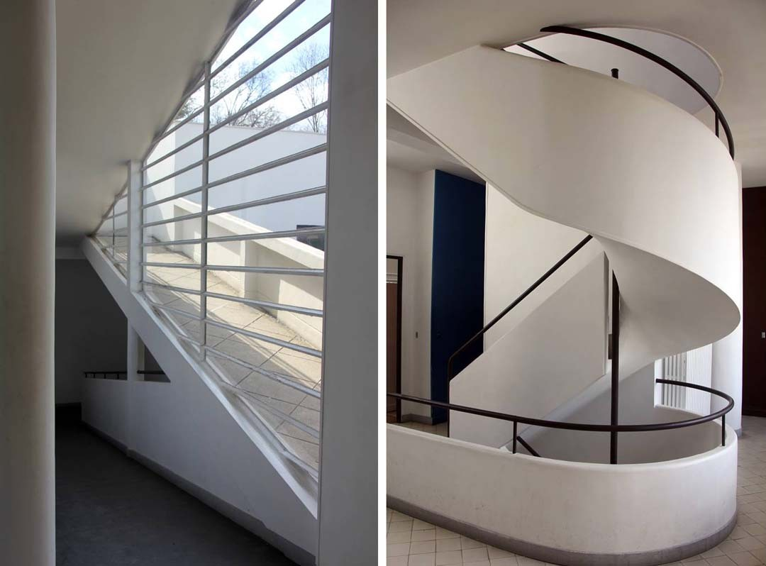 Escalier La Villa Savoye Le Corbusier à Poissy