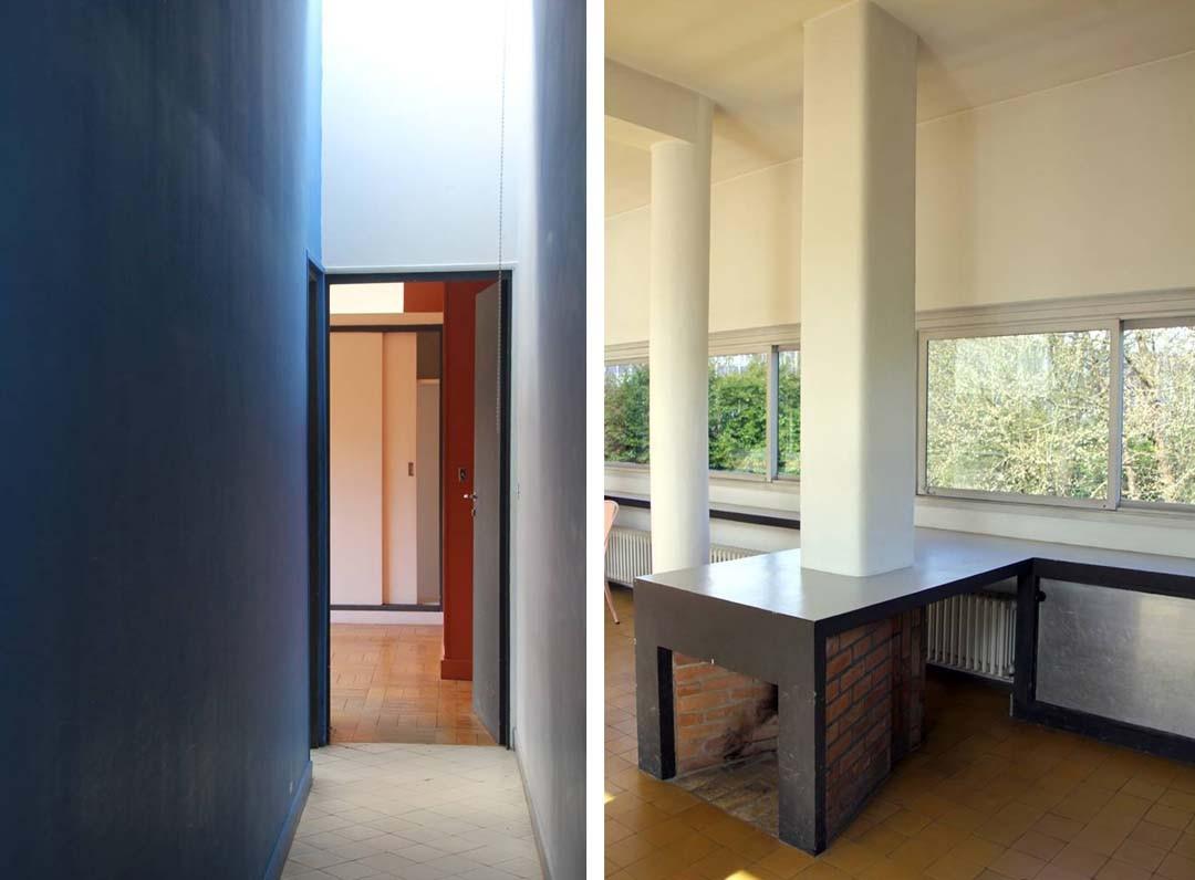 Couloirs La Villa Savoye Le Corbusier à Poissy