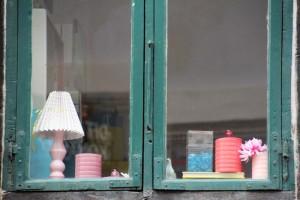 Vitrine boutique vintage à Copenhague