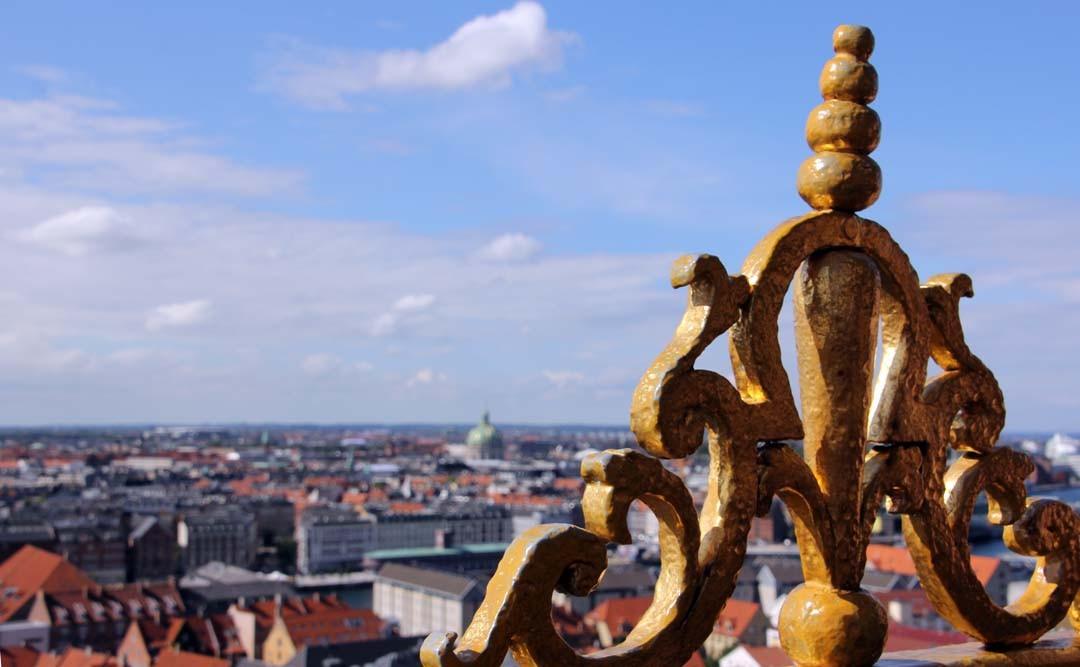 Vue depuis l'église Notre Sauveur de Copenhague