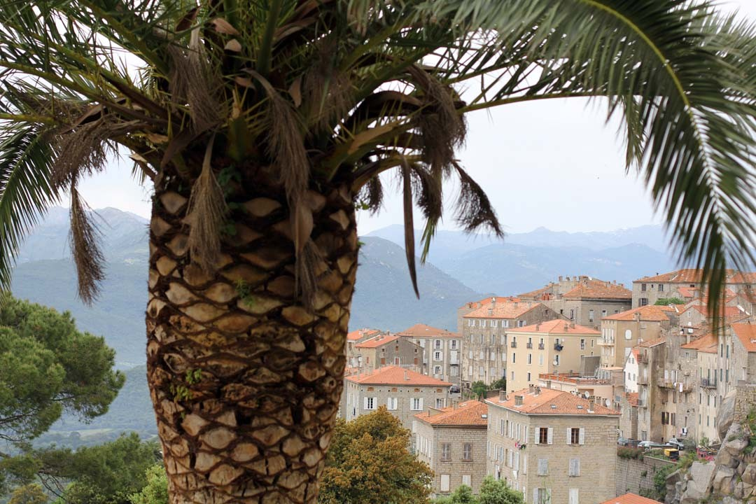 Vue sur Sartène en Corse du sud