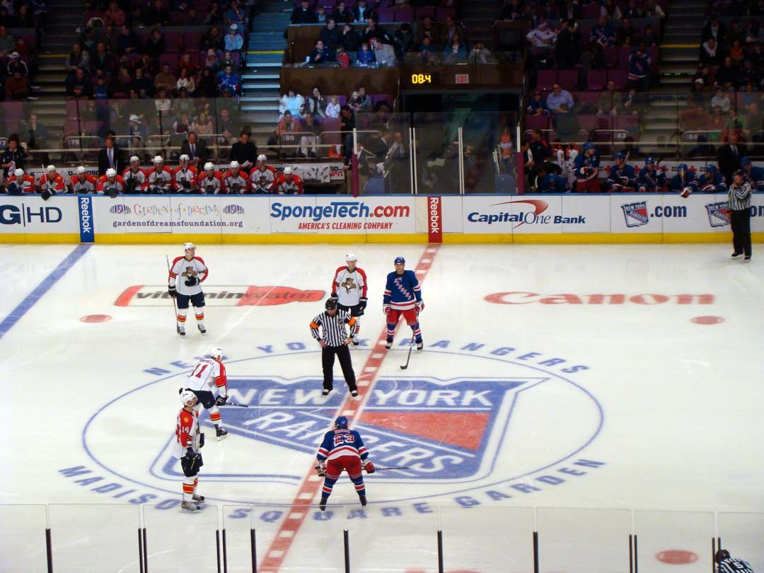 Match Hockey au Madison Square Garden New York