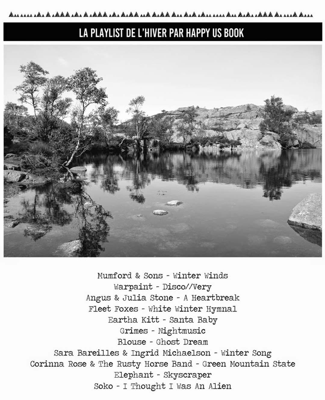 Playlist de l'hiver par Happy Us Book