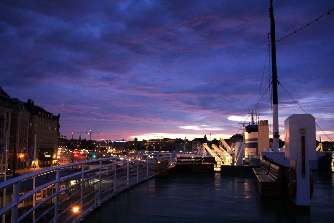 Terrasse navire Anedin à Stockholm