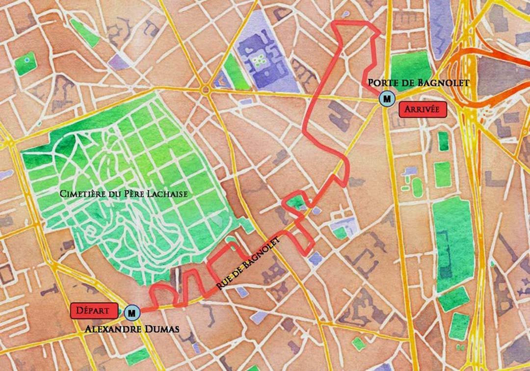 Itinéraire balade Village de Charonne à Paris