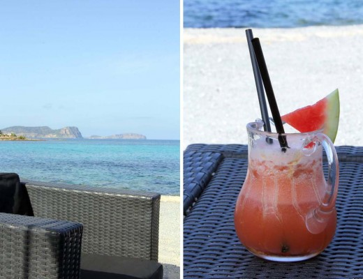 Cocktail miel pastèque à Ibiza
