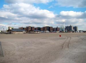 Plage de Coney Island à New York