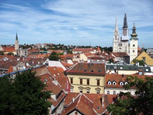Vue sur Zagreb en Croatie