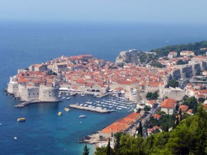 Vue sur Dubrovnik en Croatie