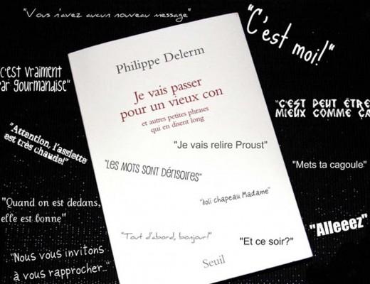 Philippe Delerm Je vais passer pour un vieux con