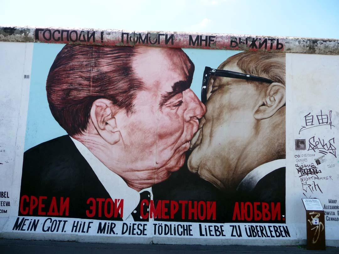 Le Baiser East Side Gallery à Berlin