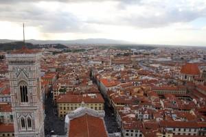 vue depuis le Duomo à Florence (cathédrale)