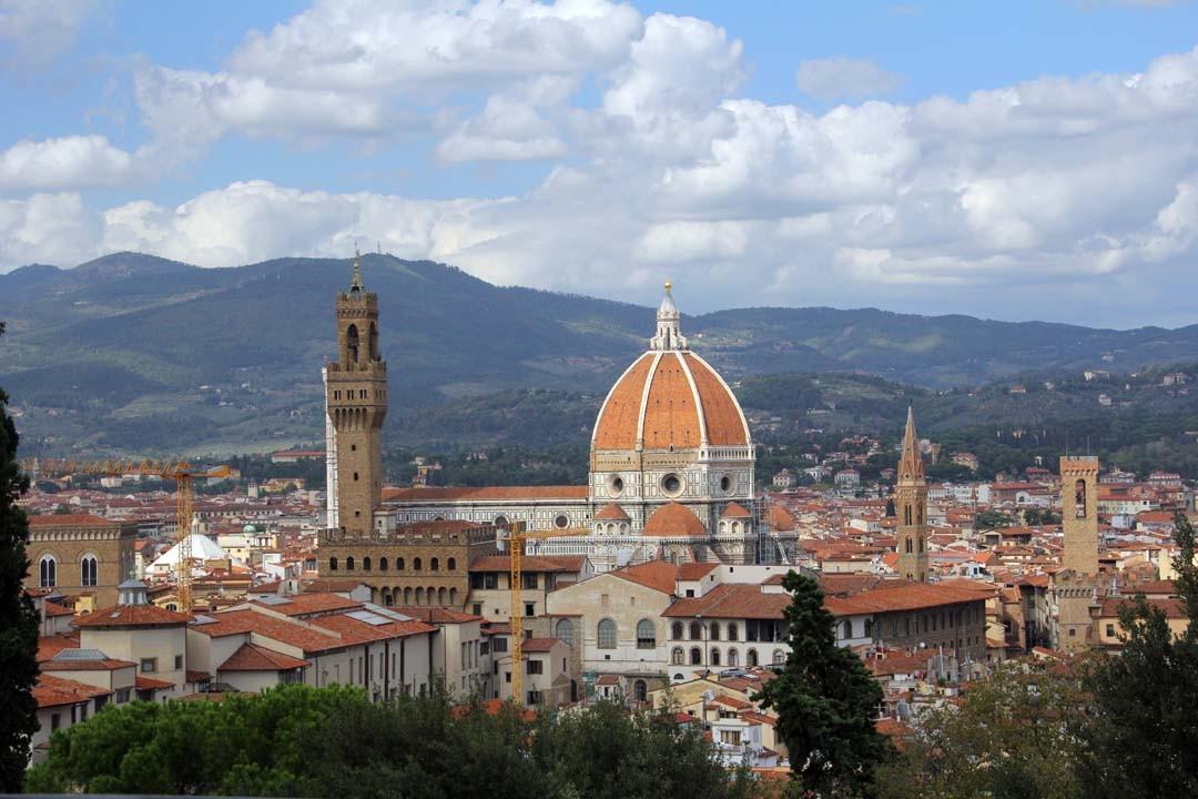 Vue sur duomo à Florence