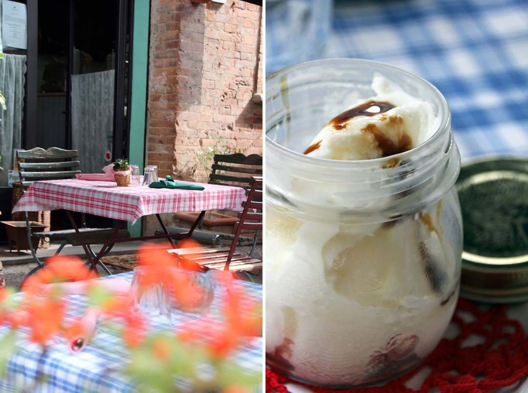 Glace au yaourt en Toscane