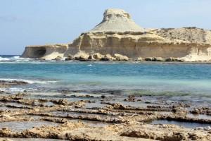 L'île de Gozo à Malte - salines de Ghajn Barrani