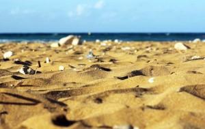Plage de sable rouge de Ramla Bay à Gozo, Malte